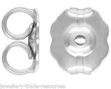 1x Pair 925 Sterling Silver Earring Butterfly Backs Scrolls  5.8mm x 5mm
