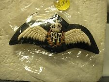 EMBROIDERED ROYAL AIR FORCE PILOT WINGS - KING'S CROWN