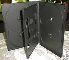 50 SLIM 14MM MULTI 6 SIX DVD CD CASES BOX , BLACK DH6