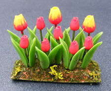 1:12 Scale Red & Yellow Tulips Garden Bed Tumdee Dolls House Flower Accessory 10