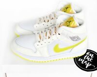 Nike Air Jordan 1 Retro Mid SE W Voltage Yellow White UK 3 4 5 6 7 8 9 10 US New