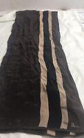 vintage vera silk scarn brown tan black 10 x 56 inches