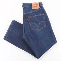 Vintage LEVI'S 501 Blue Denim Regular Straight Jeans Mens W34 L27