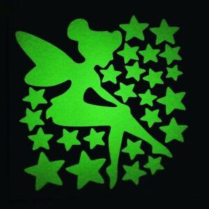 Fairy Sprinkles Stars Luminous Switch Sticker Glow in the Dark Wall Home Decor
