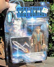 1996 Playmate Star Trek First Contact Movie Dr. Zefram Cochrane W/Base+Card Moc