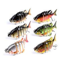 8CM 14G Multi Jointed Bass Fishing Lure Bait Crankbait Treble Hook Hot Sale New