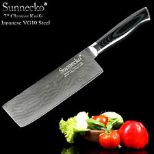 "Top Quality 7"" Cleaver Chef Knife Damascus Steel Kitchen Knives Japanese Cook"