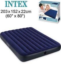 Intex Colchón Cama Inflable 152x203x22 - Azul