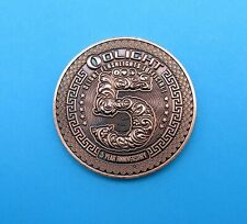 OLIGHT 5 Year Facebook Group Anniversary Challenge Coin - RARE - Limited Edition