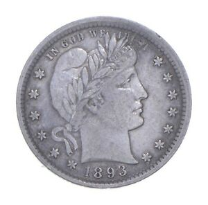 1893 Barber Quarter - Charles Coin Collection *478