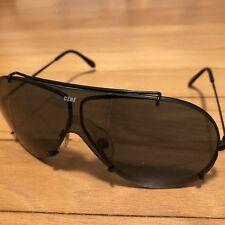Rare CEBE Vintage Aviator Pilot Sunglasses France BLACK