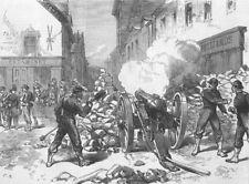 FRANCE. Paris Commune. Advanced Post, Village of Issy, antique print, 1871