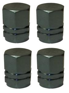 Grey Hexagonal High Quality Metal Metallic Dust Caps Pack of 4 Caps