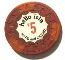 $5 HELIO ISLA Red & Ora Casino Chip Condado SAN JUAN Puerto Rico HORSE HEAD mold