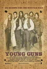 "YOUNG GUNS Movie Poster [Licensed-NEW-USA] 27x40"" Theater Size (B)"