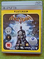 Batman: Arkham Asylum (PlayStation 3, 2010, PS3, Region Free, Manual, Platinum)