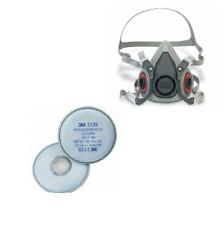 3M Dust Half Face 6000 Series Reusable Vapour 2128 filters
