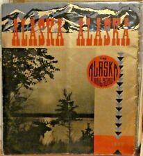 RAILROAD BROCHURE ALASKA RAILROAD 1940