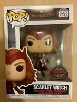 Scarlet Witch Flying Levitating 828 Funko Pop Vinyl New in Mint Box + Protector