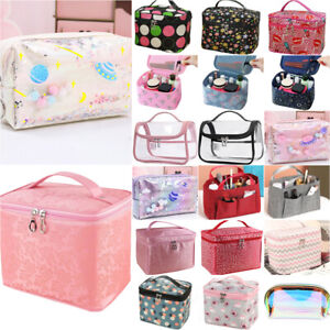 Women Make-Up Bag Travel Toiletry Case Cosmetic Organiser Beauty Storage Box