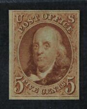 CKStamps: US Stamps Collection Scott#3 5c Franklin Unused H NGAI Corner Crease