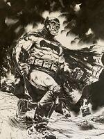 Adam Gotham Dark Knight Returns Batman Original Ink Drawing Signed.