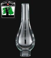"2"" X 9 3/4"" ~ Clear GLASS Oil Lamp CHIMNEY ~ Italia Bombe ~ #G7925"