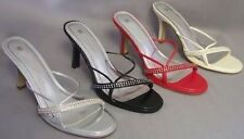 New Women/Juniors Red Sandals w/Rhinestones Janice Suzy-01 Size 7