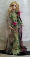 """Art Doll in silk dress Unique Sculpture home  interior design fashion 17 """""""