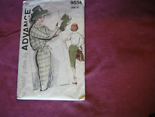 Vintage Advance Pattern 9514 Miss Separates Blouse Skirt 1950s Sz 10 Bust 31