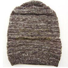 Unisex Women Men Knit Baggy Beanie Beret Winter Warm Oversized Ski Cap coffee