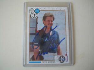 Pete Weber PBA Bowler Bowling Signed Autographed 1990 Kingpin Card