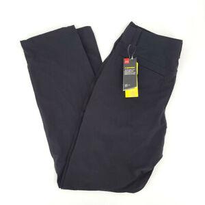 New Under Armour Mens 34/34 Black UA Storm Canyon Cargo Pants 1352692 001 UPF 30