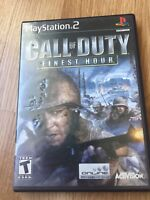 Call Of Duty Finest Hour PS2 Sony PlayStation 2 Cib Game No Manual XP1