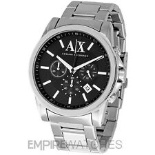 *NEW* MENS ARMANI EXCHANGE BANKS STEEL CHRONO WATCH - AX2084 - RRP £165.00