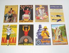 Lot de 8 Carte Postale Reproduction Affiche Publicitaire Ancienne Pub f