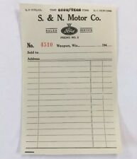 10 Vintage 1940's Ford Dealer Sales Ticket Receipt Good Year S&N Motor Waupun Wi