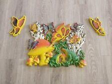 Homco Wall Decor Frogs Butterflies Mushrooms Vintage Plastic Hippie Mod Decor