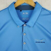 ADIDAS CLIMACOOL Size 2XL Mens Blue Patterned Golf Casual Polo Shirt Breathable
