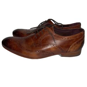 Men's TED BAKER Captoe Ombré Cognac Colored Leather  CRYENE Oxford Shoe Size 11