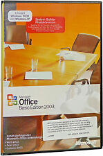 Microsoft Office 2003 Basic Vollversion CD/DVD u. dauerhafte Lizenz BOX DEUTSCH