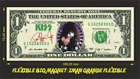 KISS PAUL STANLEY IMAN BILLETE 1 DOLLAR BILL MAGNET
