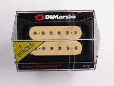 DiMarzio F-spaced Super Distortion Bridge Humbucker Creme W/Chrome Poles DP 100