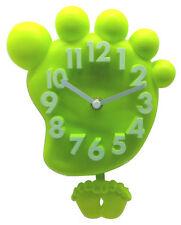 Wanduhr Kinderwanduhr Kinderuhr Uhr Wanddeko Kinder Kinderzimmer Fuß - Grün