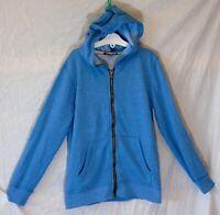 Boys George Blue Marl Light Summer Spring Hooded Jacket Hoodie Age 9-10 Years