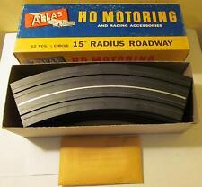 """12 Atlas HO 15"""" Radius 1/8 Circle Roadway Slotcar Curve Tracks #1231 NMIB"""