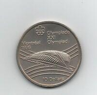 Moneda Canada 10 Dollars 1976 XXI Olimpiadas (Montreal)   circulada  Ref.M634