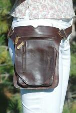 Brown Leather Belt Bag Women, Leather Hip Bag Men, Waist Pack Leather Brown