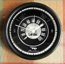 1966 to 1977 Ford Bronco speedometer gauges black10 Inch Wall clock New!