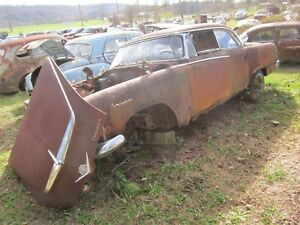 1955 DODGE ROYAL FRONT BUMPER GUARDS BUMPERETTES NEEDS REPLATE 55